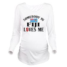 Somebody In Fiji Long Sleeve Maternity T-Shirt