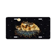 Sky Wolves Aluminum License Plate