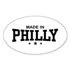 Made in Philly Oval Decal