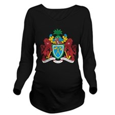 Gambia Coat Of Arms Long Sleeve Maternity T-Shirt