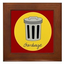 garbage Framed Tile