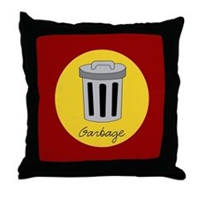 garbage Throw Pillow