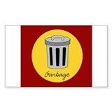 garbage Rectangle Decal
