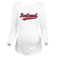 Retro Iceland Long Sleeve Maternity T-Shirt