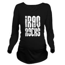 Iraq Rocks Long Sleeve Maternity T-Shirt