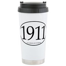 1911 oval sticker PATHS.eps Ceramic Travel Mug