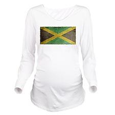 Vintage Jamaica Long Sleeve Maternity T-Shirt