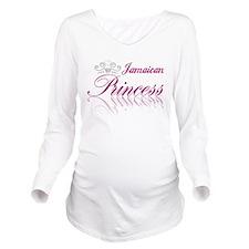 Jamaican Princess Long Sleeve Maternity T-Shirt