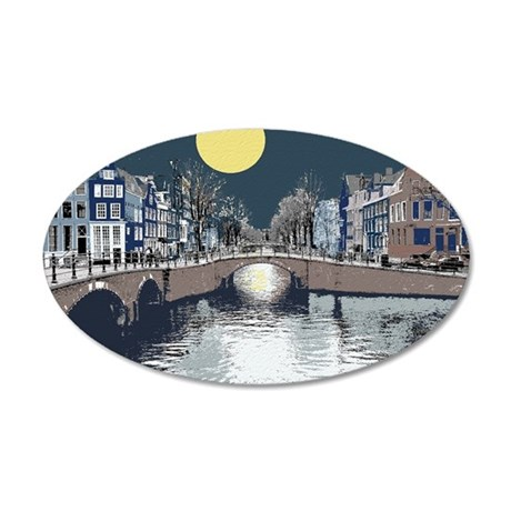 DutchBridge1abcx 35x21 Oval Wall Decal