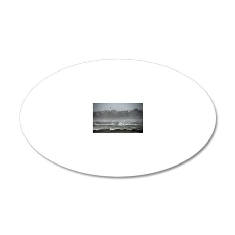 2-lighthouse 20x12 Oval Wall Decal