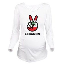 Peace In Lebanon Long Sleeve Maternity T-Shirt