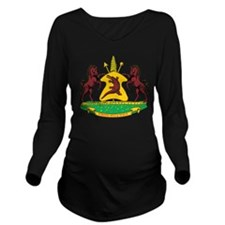 Lesotho Coat Of Arms Long Sleeve Maternity T-Shirt