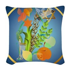 Passover Seder-circle Woven Throw Pillow