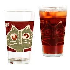 Batik Cat Drinking Glass
