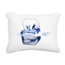 Sea Ice 2 - Blue Rectangular Canvas Pillow