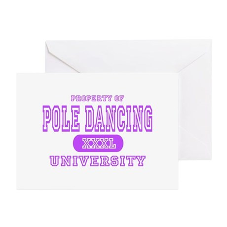 Pole Dancing University Greeting Cards (Package of