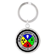 mad_scientist_union_logo Round Keychain