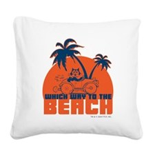 whichwaytothebeach Square Canvas Pillow
