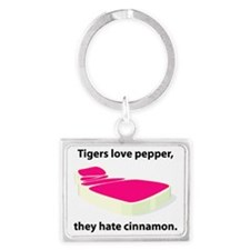 tiger-pepper.eps Landscape Keychain
