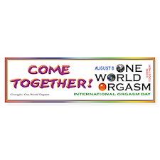 One World Orgasm - Bumper Sticker