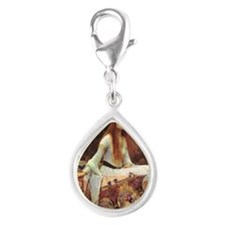 Lady of Shalott Keepsake Bo Silver Teardrop Charm