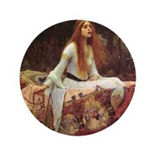 "Lady of Shalott Keepsake Box 3.5"" Button"
