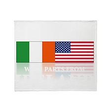 made in Ireland(blk) Throw Blanket