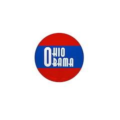 Ohio for Obama Mini Button for 2008