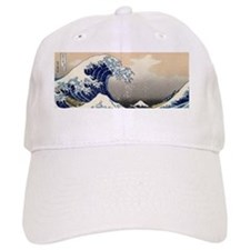 great_wave_8.31x3_bev Baseball Cap