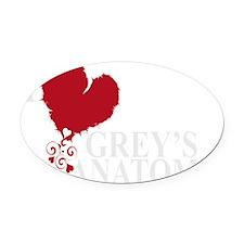 i love greys anatomy2 Oval Car Magnet