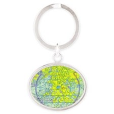 ATL copy2 Oval Keychain