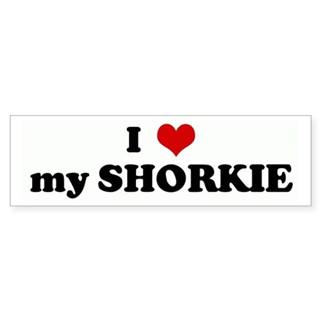 I Love my SHORKIE Bumper Sticker