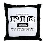 Pig University Throw Pillow