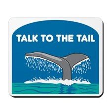 FIN-whale-talk-tail Mousepad