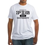Pig University Fitted T-Shirt