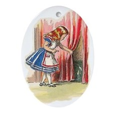 Alice from an original illustration2 Oval Ornament