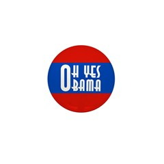 Oh Yes Obama 10 pack small pins