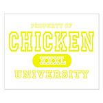 Chicken University Small Poster