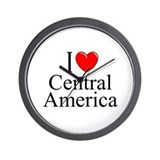 """I Love Central America"" Wall Clock"