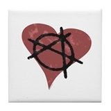 Anarchy Heart Tile Coaster