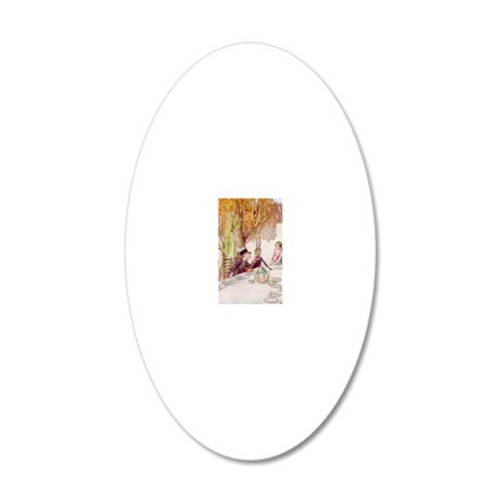 Illustrated by A.E. Jackson  20x12 Oval Wall Decal