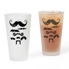 Mobile Mustache Design Drinking Glass