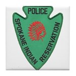 Spokane Tribal Police Tile Coaster
