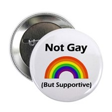 Not Gay (But Supportive) Button (10 pack)