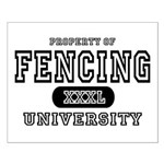 Fencing University Small Poster