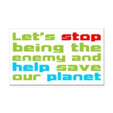 Help Planet Rectangle Car Magnet