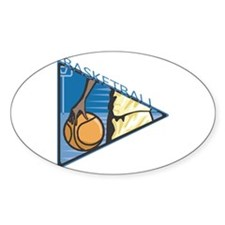 Basketball Pennant Oval Decal