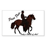 Paso Fino Art Rectangle Decal