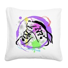 grunge irish dance Square Canvas Pillow