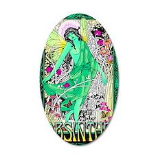 absinthe fairy 35x21 Oval Wall Decal